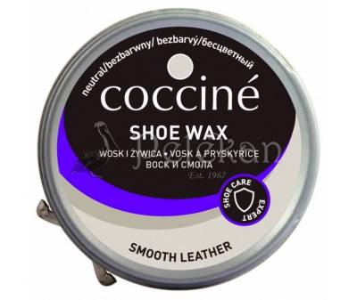 SHOE WAX COCCINE polish. Beeswax, resin