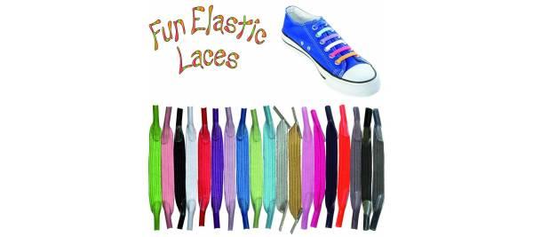Ελαστικά κορδόνια χωρίς δέσιμο Fun Elastic Laces
