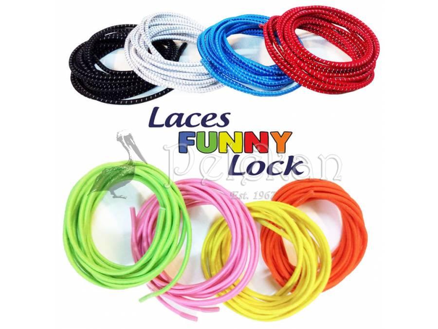 Ελαστικά κορδόνια χωρίς δέσιμο Funny Lock laces   .gr