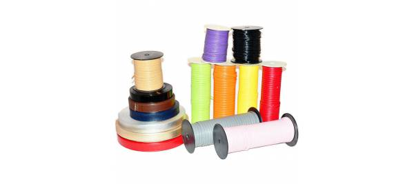Straps, strips double stitched flat leatherette 3,5,7,10,15,20,25,30mm