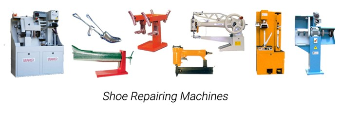Shoe repairing machines