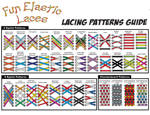 See at a magnification the Fun Elastic Laces Lacing Patterns Guide